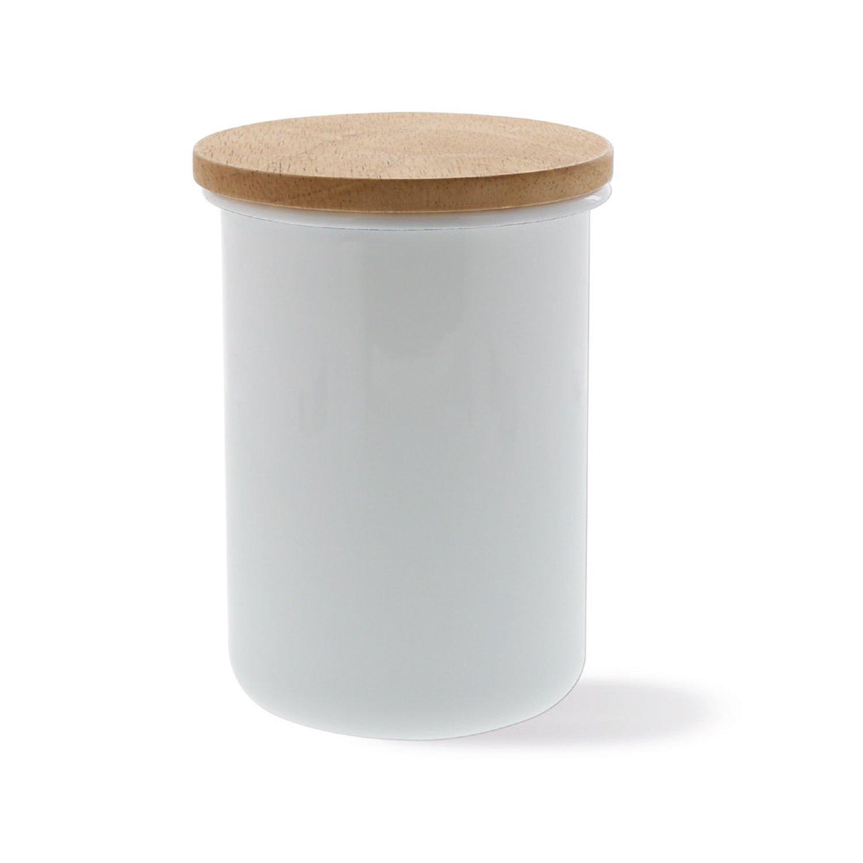 Honey Ware Emaille Vorratsdose mit Holzdeckel 800 ml