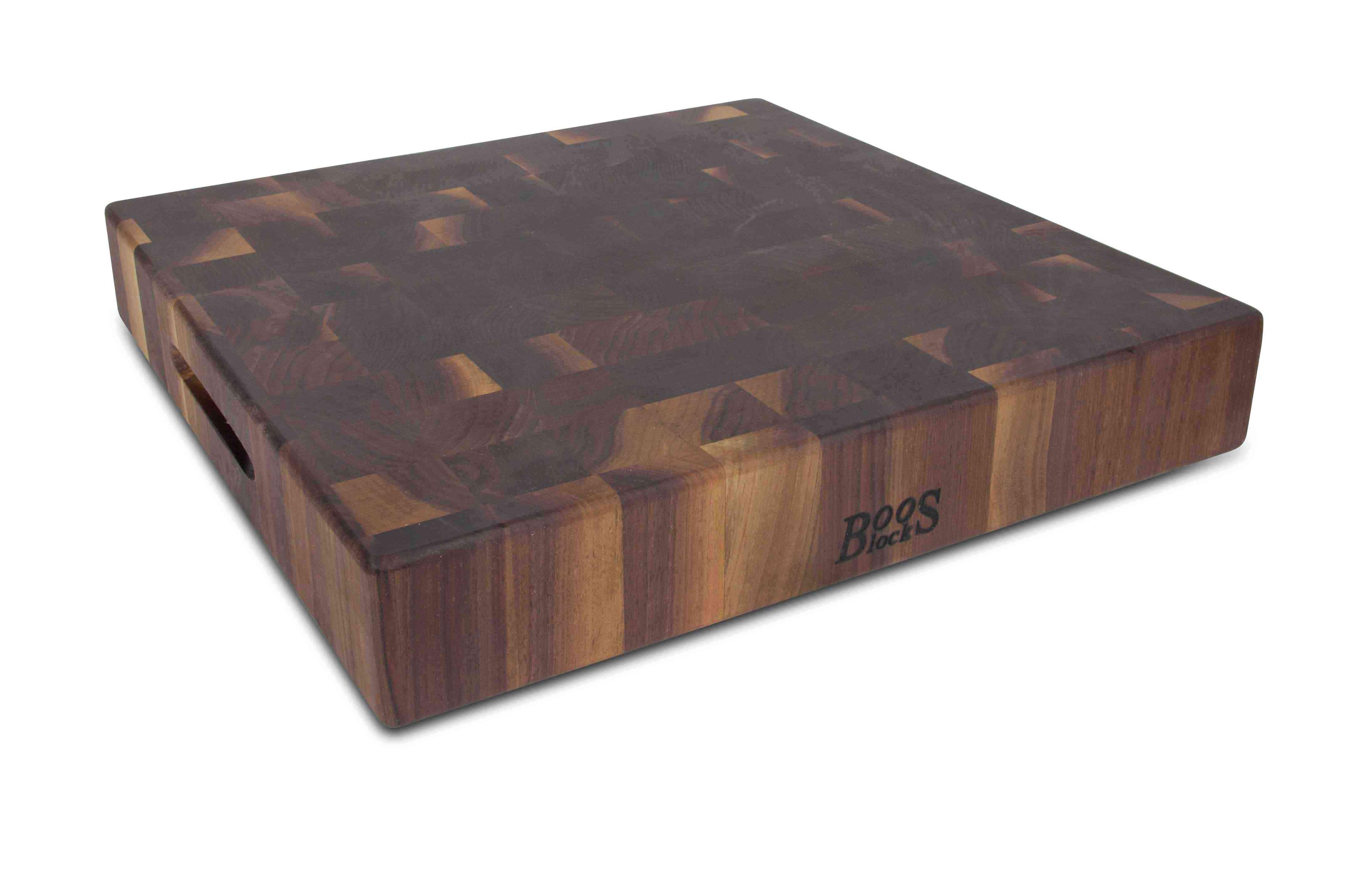 Boos Blocks Hackbrett Walnussholz 46 x 46 x 7,5 / 9,5 kg