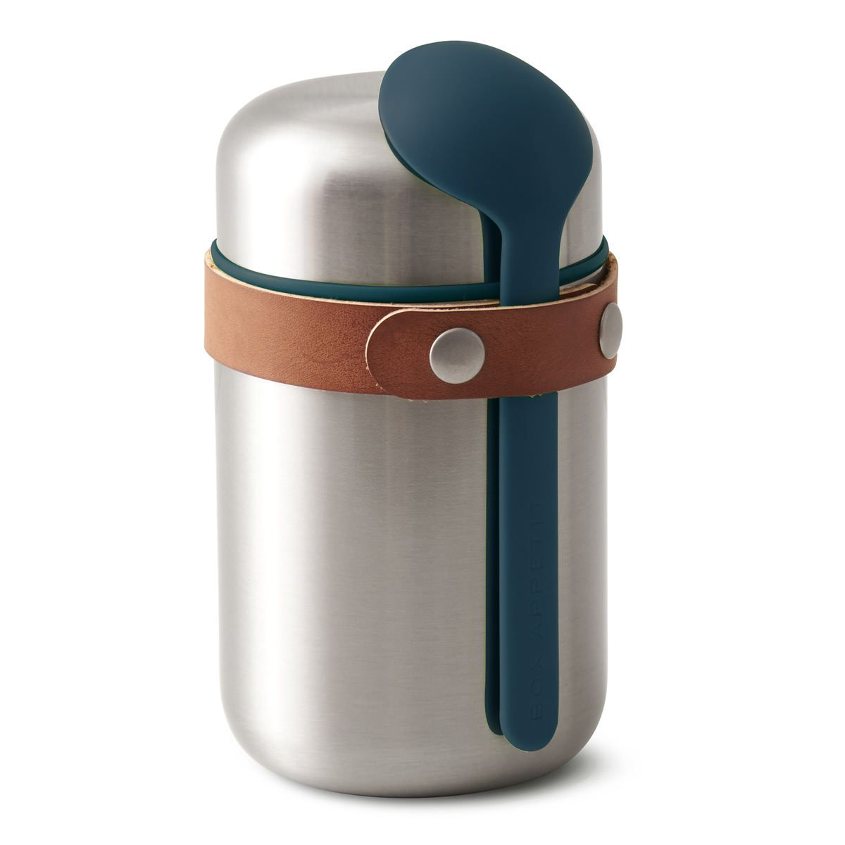 black+blum Food Flask Lunchpot Thermo mit Löffel, dunkelblau