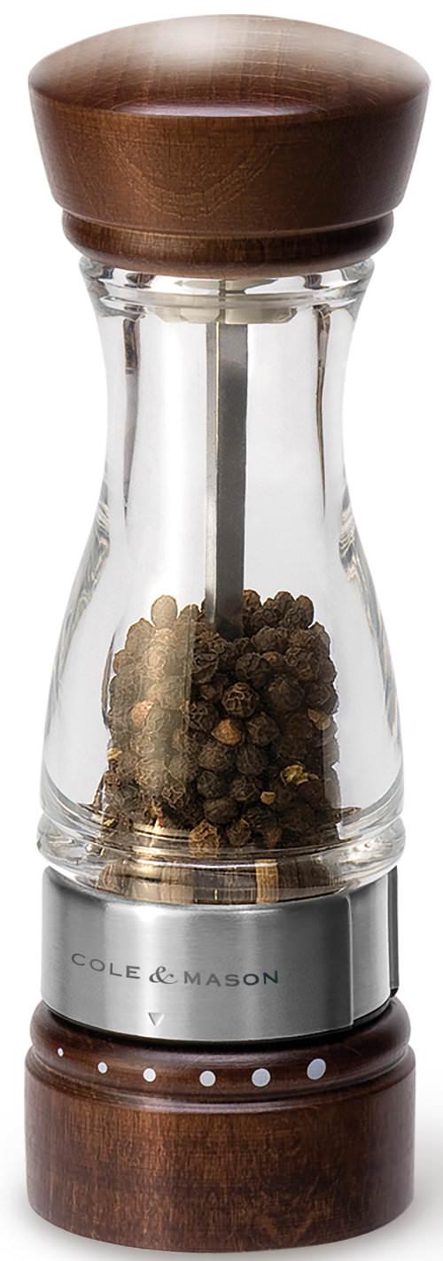 Cole & Mason Pfeffermühle Keswick Walnußholz Acryl 18 cm