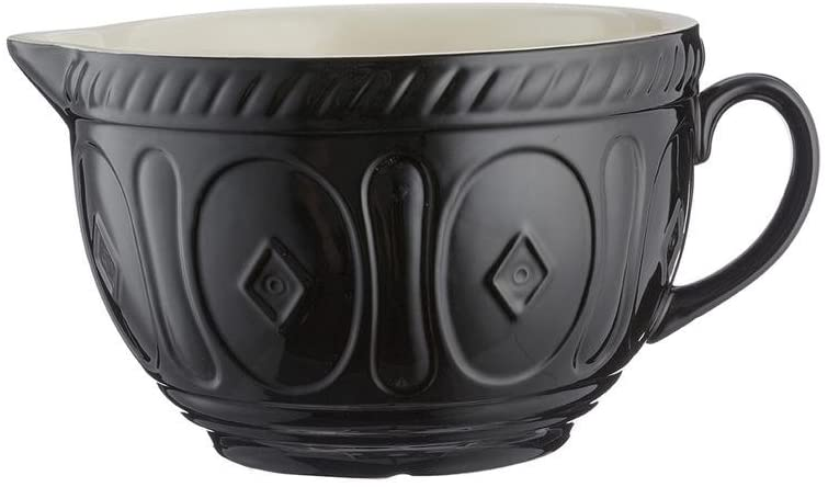 MASON CASH Rührteigschüssel aus Steingut mit Griff, schwarz, 2,7 Liter