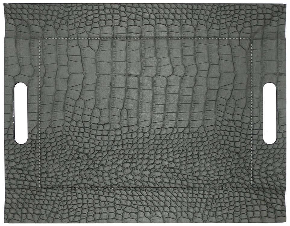 Freeform Wendetablett Croc Grau / Schwarz 45 x 35 cm