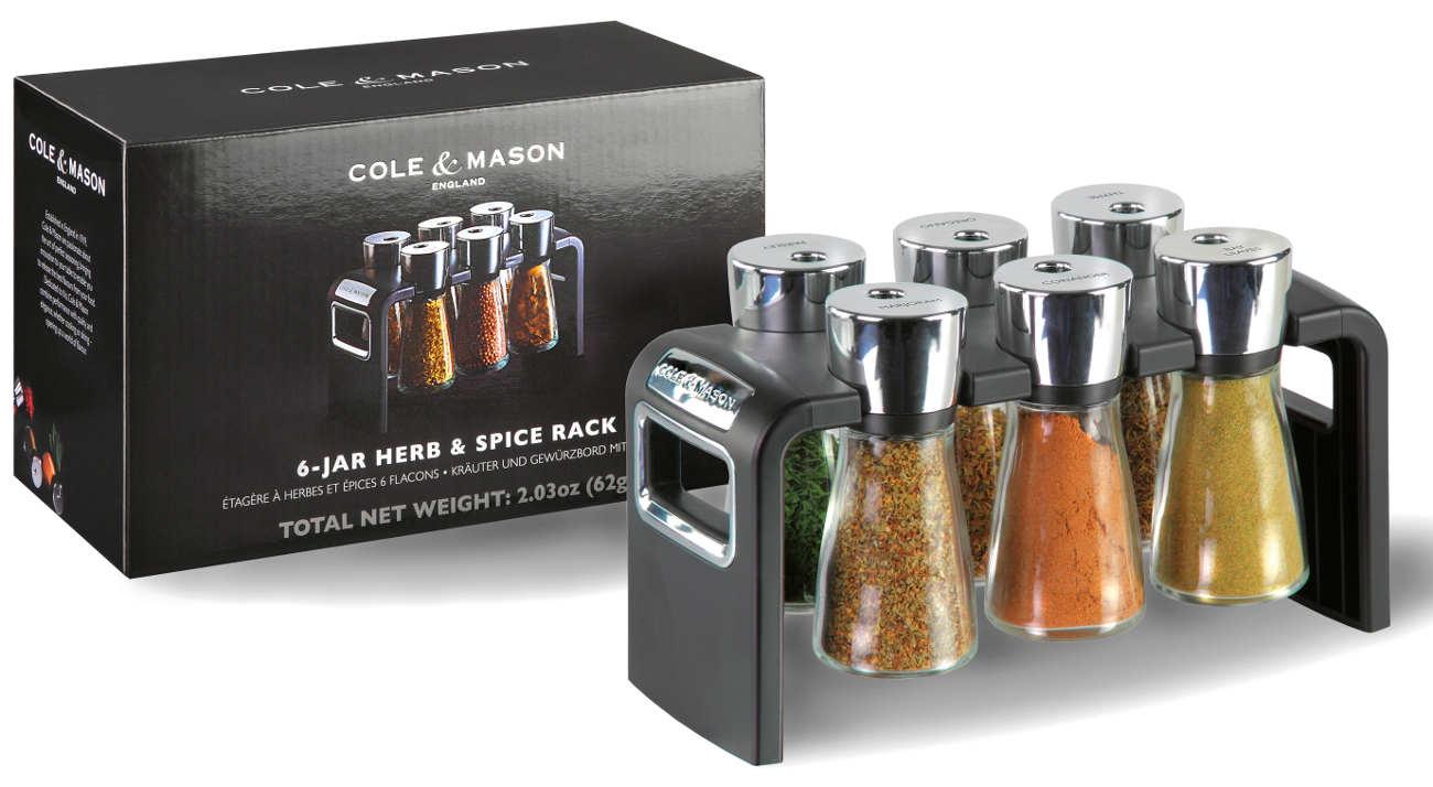 Cole & Mason Kräuter&Gewürz Regal 6 Gläser