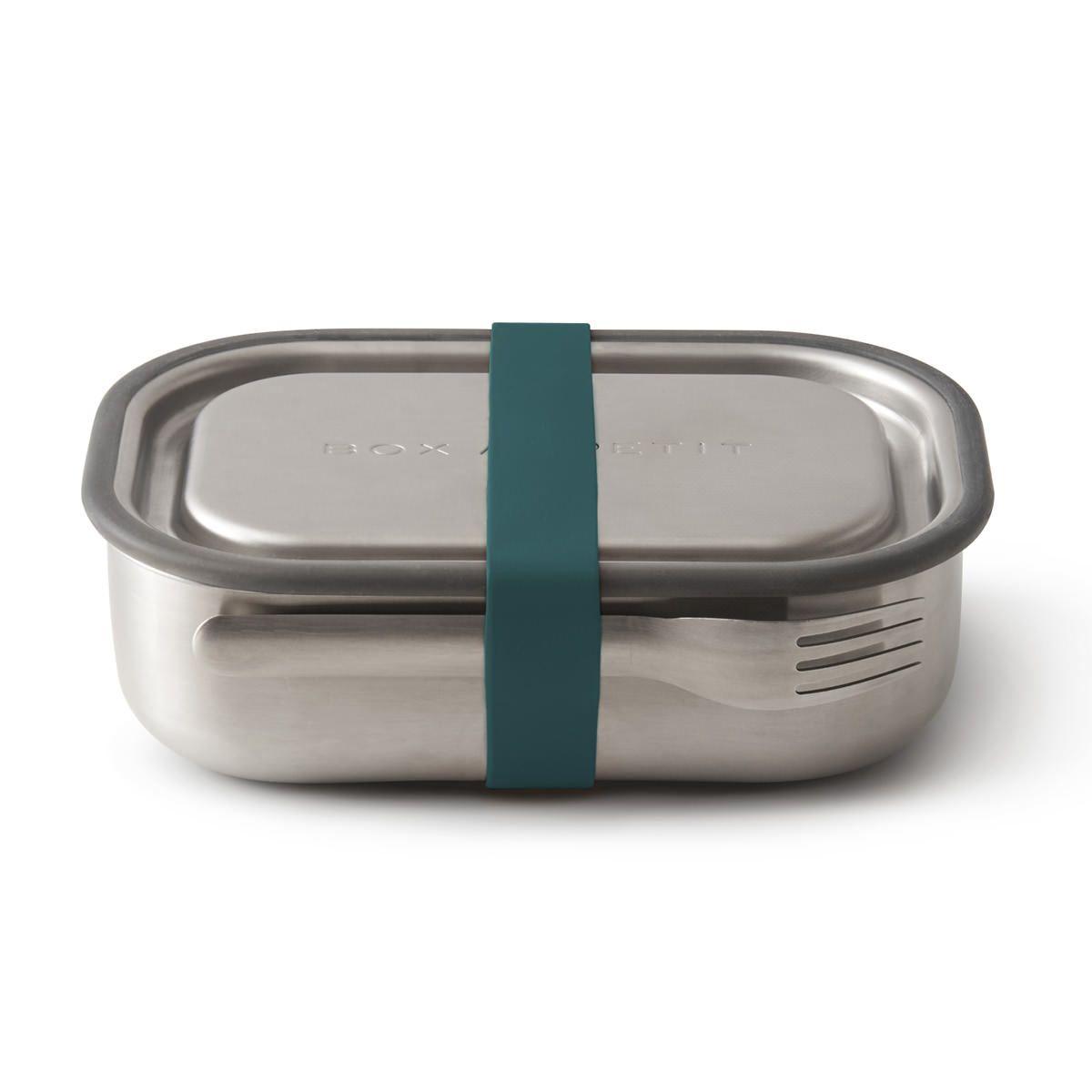 black+blum auslaufsichere 3-in1 Edelstahl Lunchbox Dunkelblau