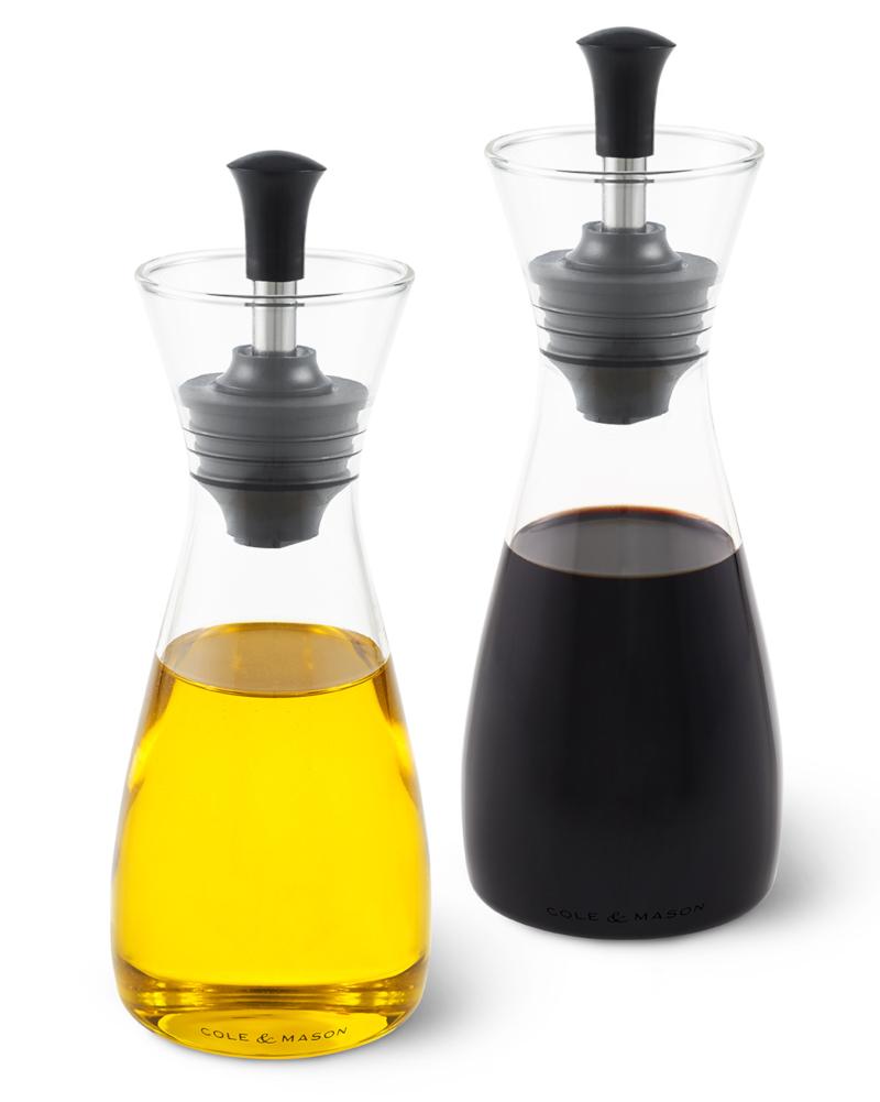 Cole & Mason Öl- & Essig Flasche im Geschenkset mit Ausgießer und Verschluss