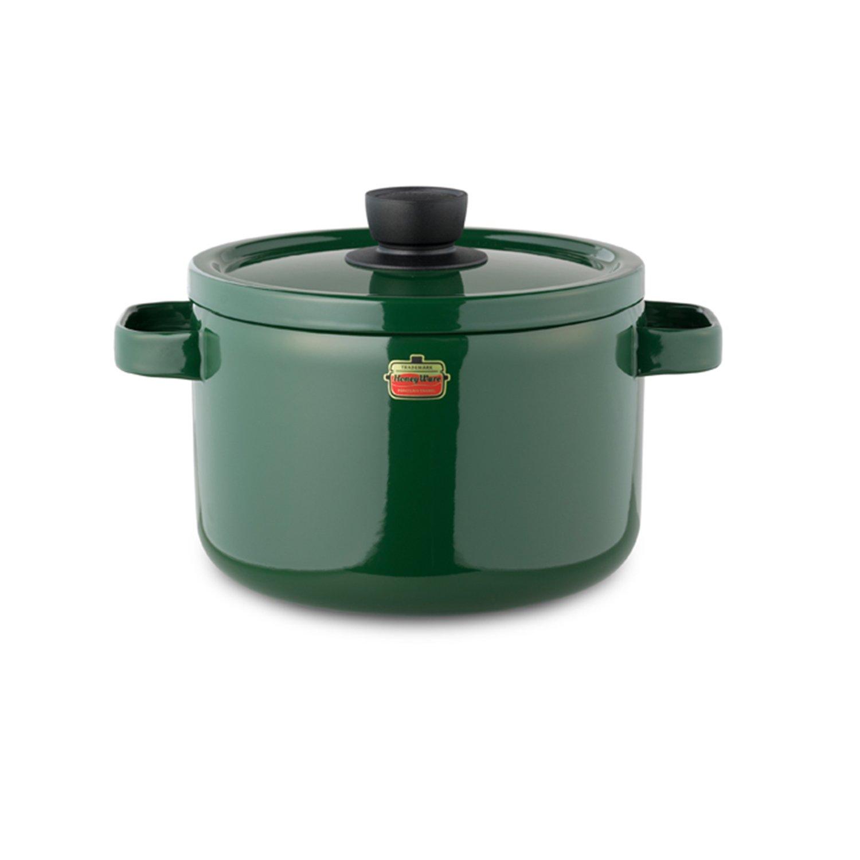 Honey Ware Emaille Topf, 22 cm grün, 5,6 Liter