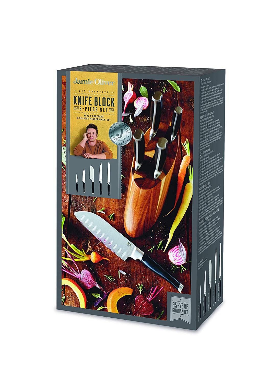 Jamie Oliver Küchenmesser und Messerblock aus Akazie