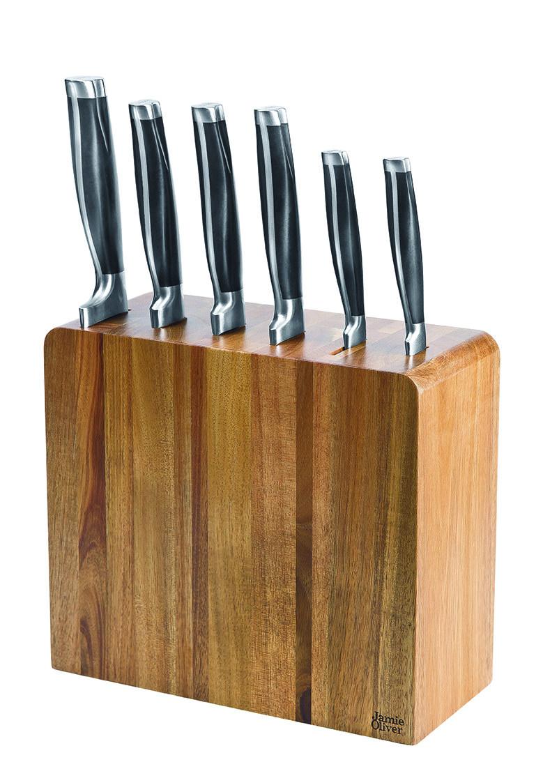 Jamie Oliver Küchenmesser und Akazienmesserblock