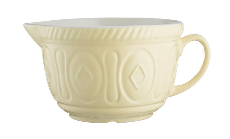 MASON CASH Rührteigschüssel  aus Steingut mit Griff, vanille, 2,7 Liter