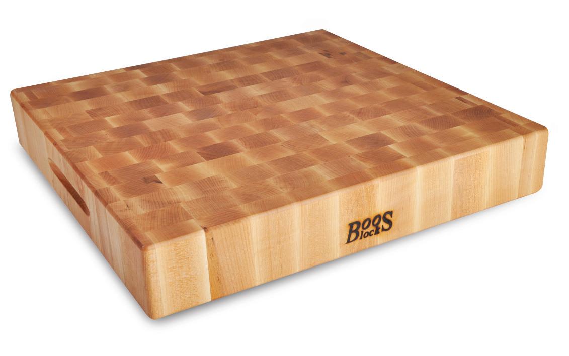 Boos Blocks Hackbrett Ahorn Hartholz 46 x 46 x 7,5 / 9,5 kg