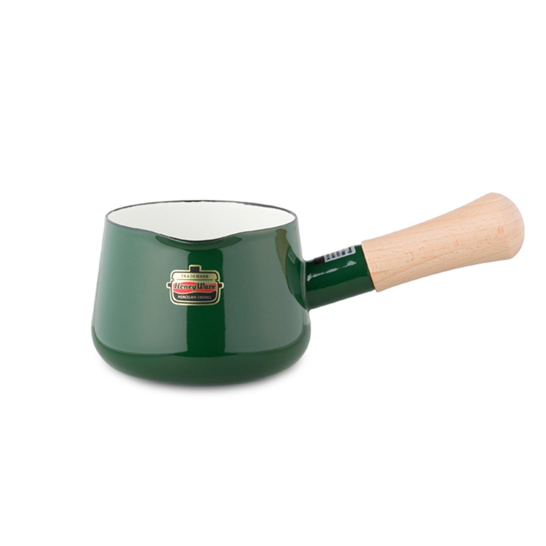 Honey Ware Emaille Stielkasserolle grün, 0,75 Liter