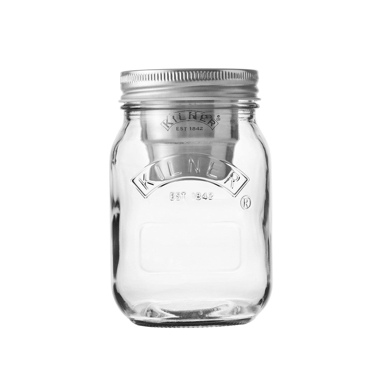 Kilner Glas mit Dressing/Sauchen Einsatz 0,5 Liter