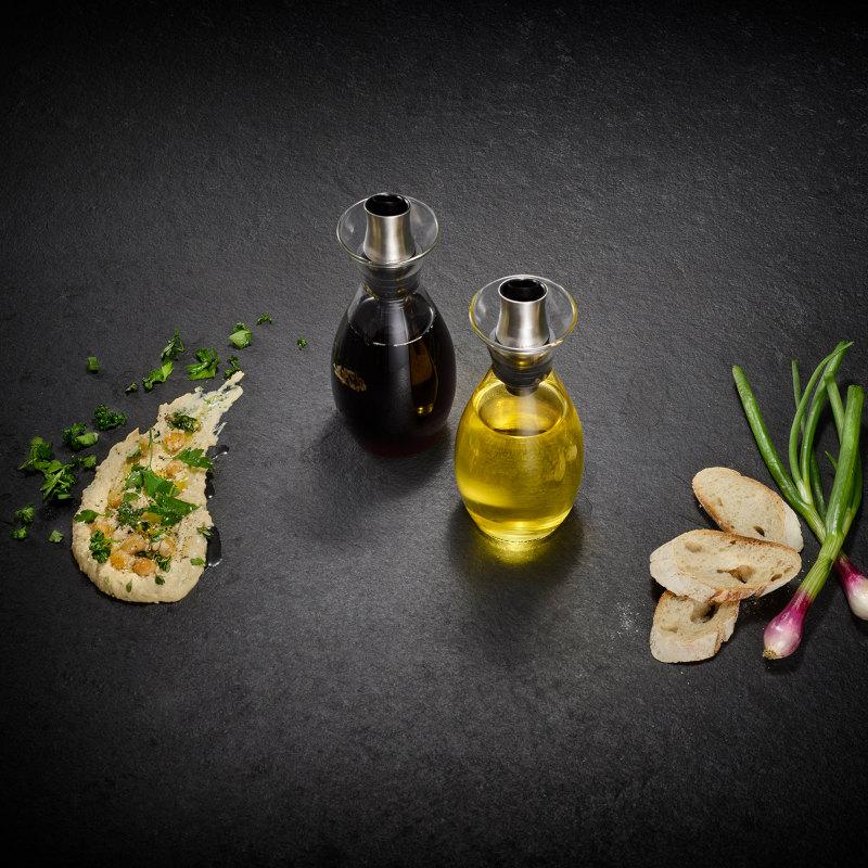 Cole & Mason Set Öl- und Essig Flaschen mit einstellbarem Ausgießer